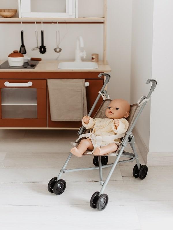 Housse Poussette Lin et bébé