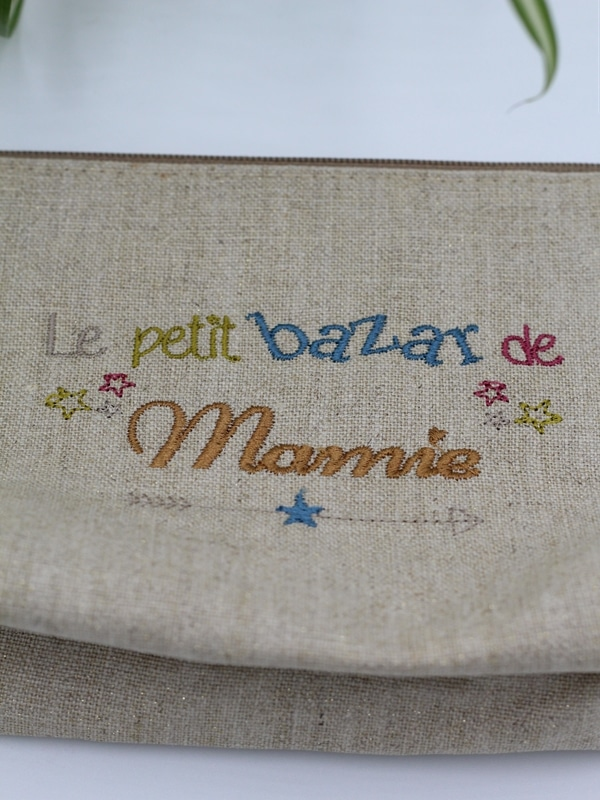 Trousse Bazar mamie Broderie