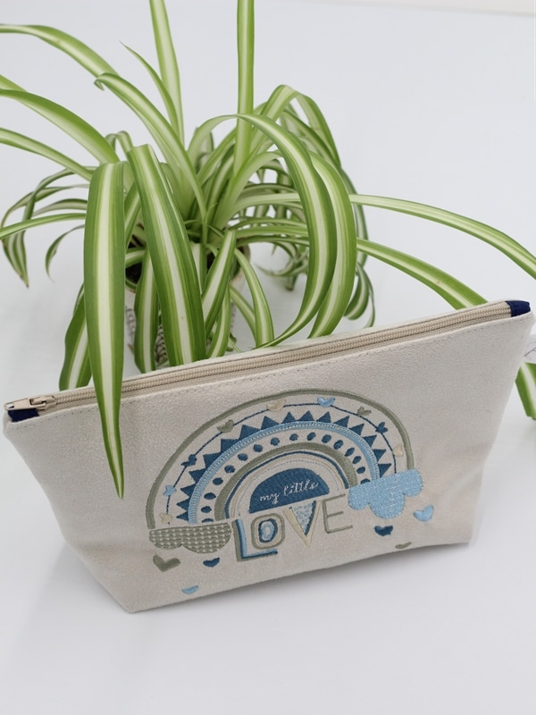 Trousse Brodee My Little Love Bleue